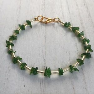 Jewelry - Chrome Diopside Tumble chips bracelet